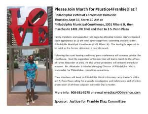 Philadelphia: Justice for Frankie Diaz March, Sept. 17