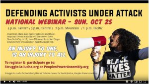 Defend Black lives! Defend activists and organizers under attack!