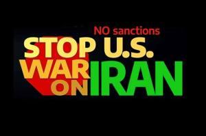 Stop U.S. attacks on Iran. No war! End sanctions!