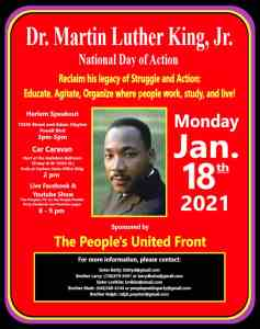 NYC: Dr. Martin Luther King Jr. National Day of Action, Jan. 18