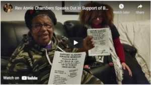Rev. Annie Chambers speaks out in support of BAmazon workers