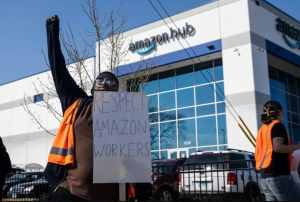 Amazon stole the vote! Continue the struggle: Bust racism, not unions