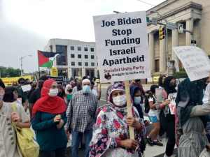 Palestine resistance supporters rally in Baltimore