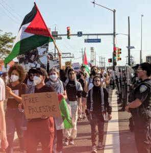 #BlocktheBoat protest for Palestine at Port of NY/NJ