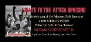 Salute to the Attica Uprising, Sept. 18