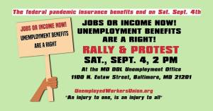 Baltimore Rally & Protest: Unemployment Benefits are a Right, Sept. 4