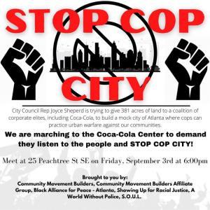 Atlanta: March to Stop Cop City, Sept. 3