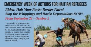 Emergency Week of Action for Haitian Refugees