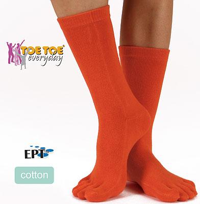 orange tåstrumpor