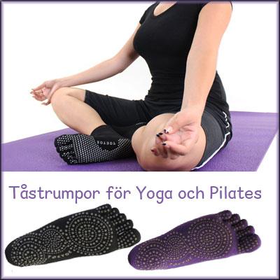 Tåstrumpor för yoga och pilates