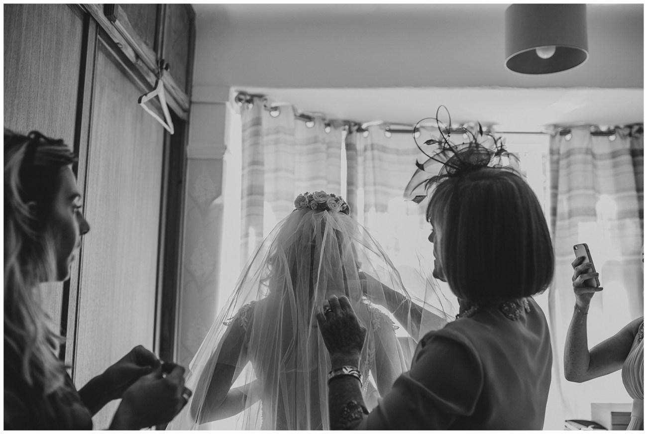 brides head veil
