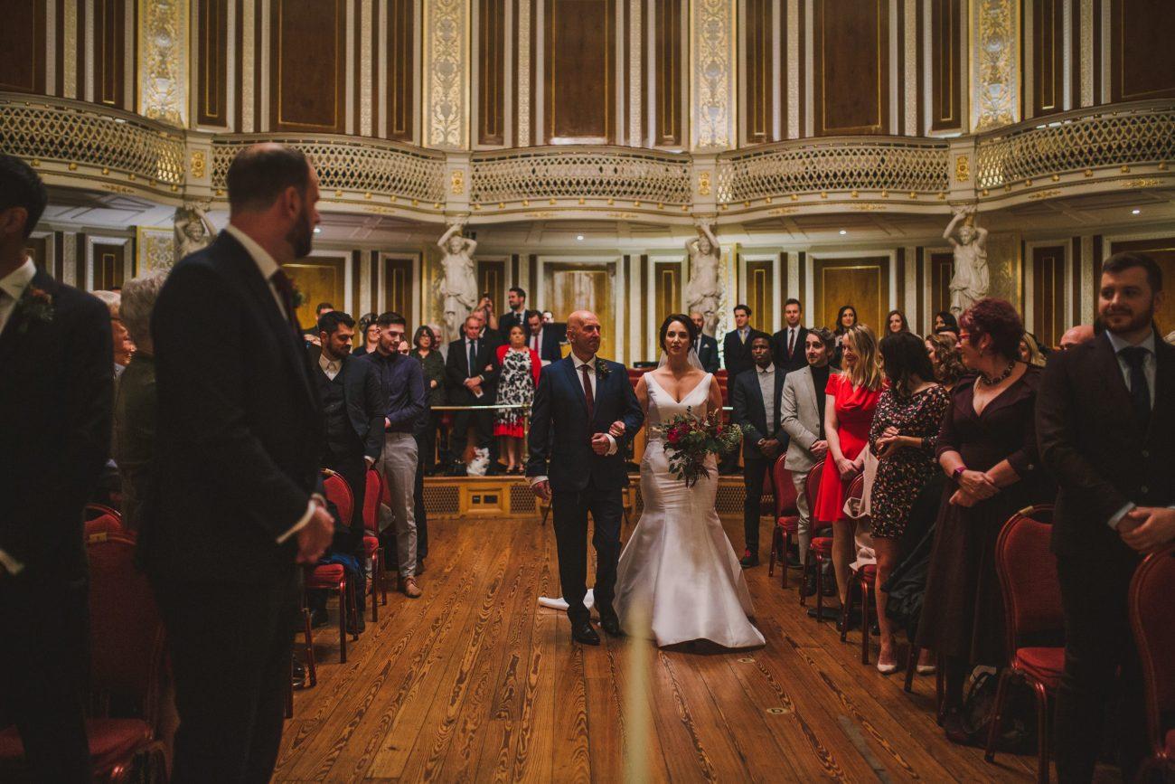 concert room wedding