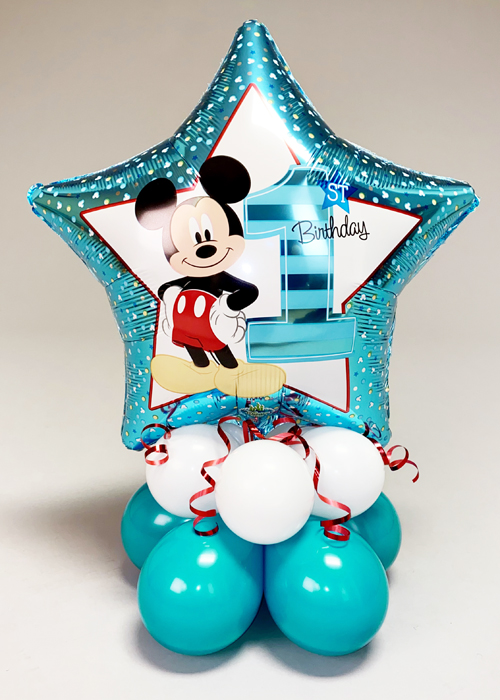Mickey Mouse 1st Birthday Balloon Centrepiece