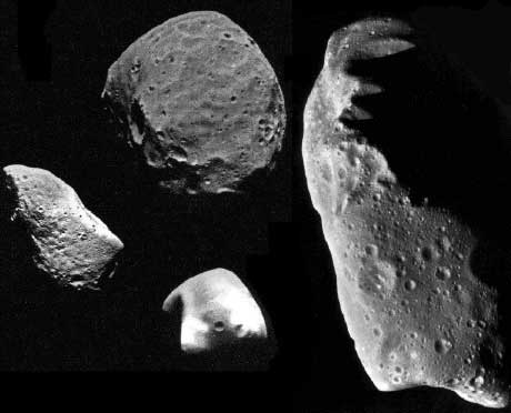 This is probably what pops up in your mind when you hear asteroid. Irregular shaped piece of rock. Image from: stsci.edu