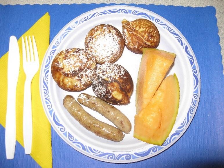 Aebelskiver breakfast plate