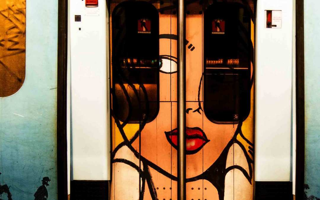 IMPRESSION PLEXI « 7320 – LISBOA SUBWAY ART » by COBRA ART