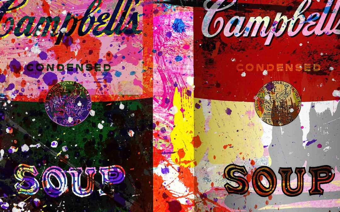 IMPRESSION PLEXI « 7402-COLORFUL CAMBELLS EXTRAVAGANZA » by Cobra Art