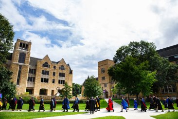 The faculty procession