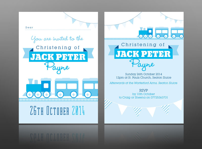 Creative christening Invite designs & thank you cards for ...