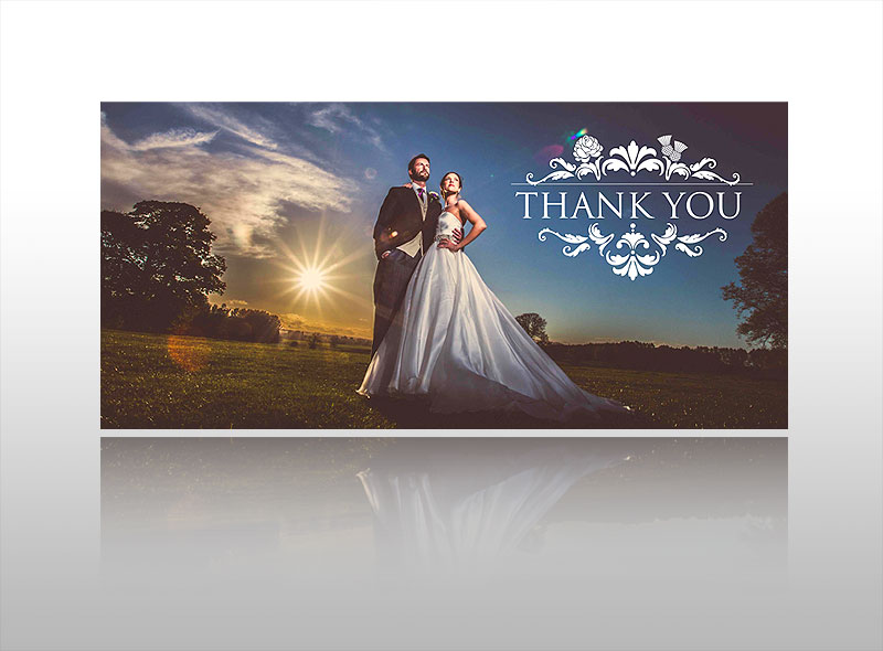 wedding thank you card design print stylish