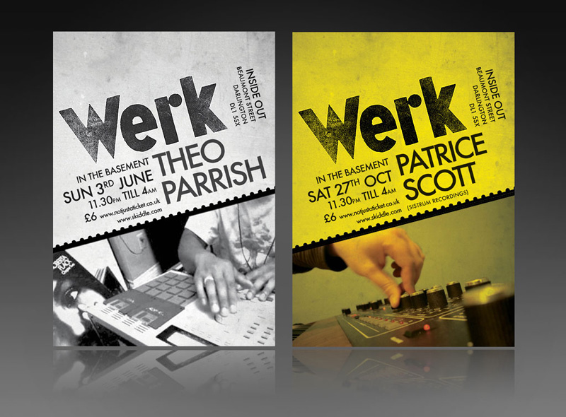 Flyer design services for music club DJ nights