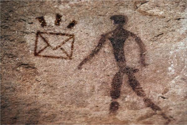 Caveman uses email