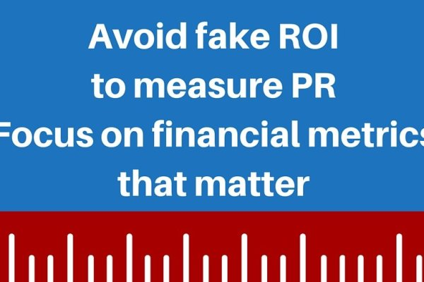 The PR measurement myth of ROI 3