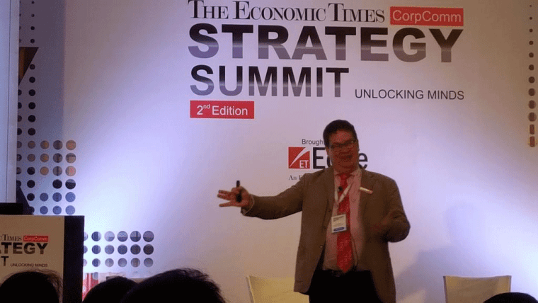 Stuart Bruce speaking at Economic Times Corporate Communication Strategy Summit photo