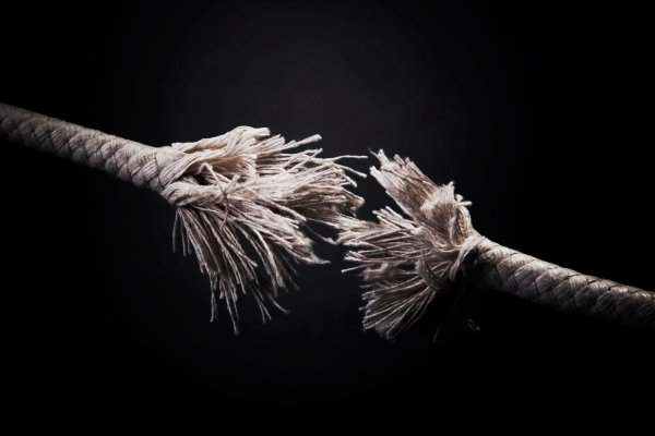 Frayed rope photo