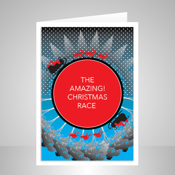 the amazing christmas race christmas card cht032 display