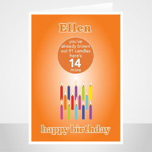 funny 14th birthday card edit name for boy or girl candles bth245 display 1