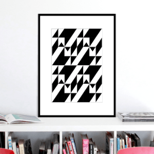 black and white stairs illusion print stuartconcepts p0028 black frame