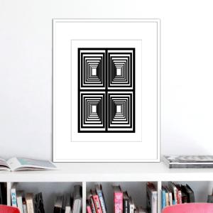vertigo 1 optical illusion print stuartconcepts p0029 white frame