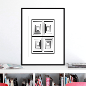 vertigo 2 optical illusion print stuartconcepts p0030 black frame