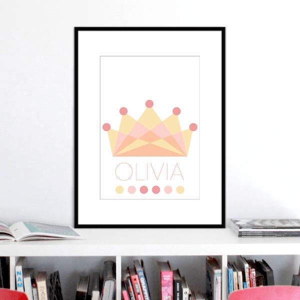 crown beach colours name print stuartconcepts p0033 black frame