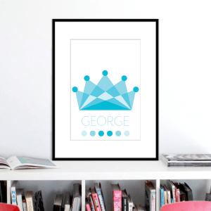 crown ocean colours name print stuartconcepts p0034 black frame