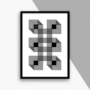 six black squares pp010 display sac