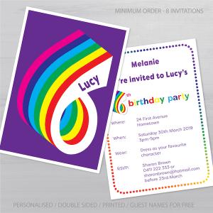 6th birthday invitation inv006 display
