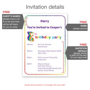 8th birthday invitation inv008 invite details
