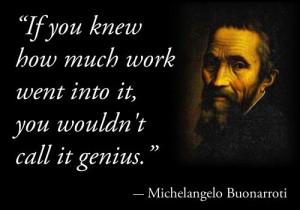 genius vs work