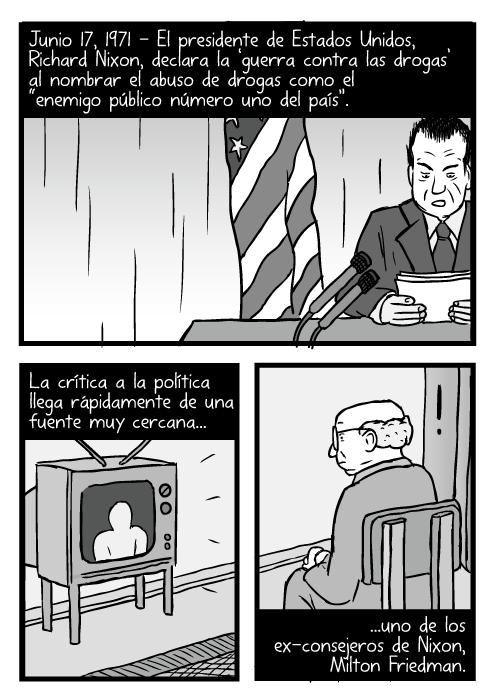 Caricatura De La Guerra Contra Las Drogas Stuart