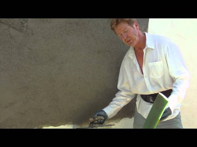 How to match a  tex-coat  finish with stucco