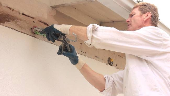 Caulking holes for home repairs
