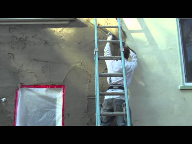 How to install a ledger board on a stucco wall