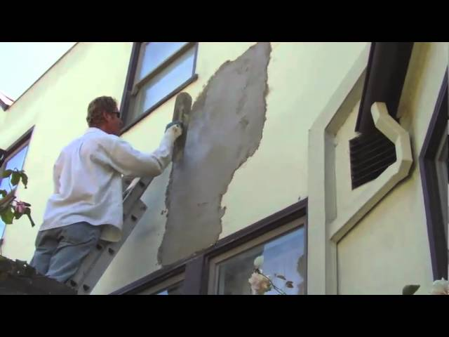 Step by step stucco applications, Plaster big holes in stucco fast