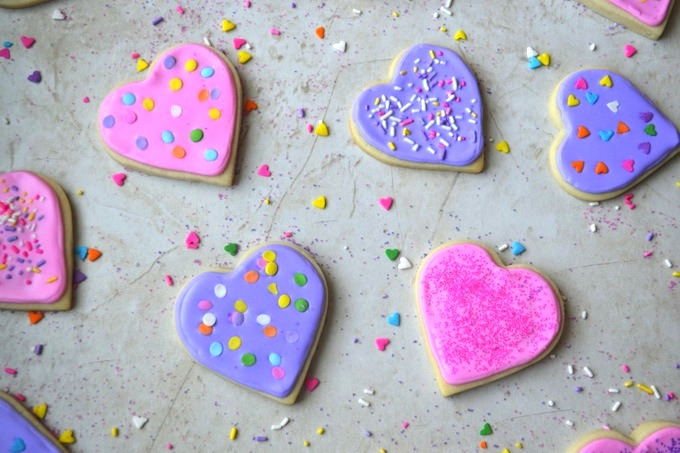 Valentine S Day Sugar Cookies With Sprinkles