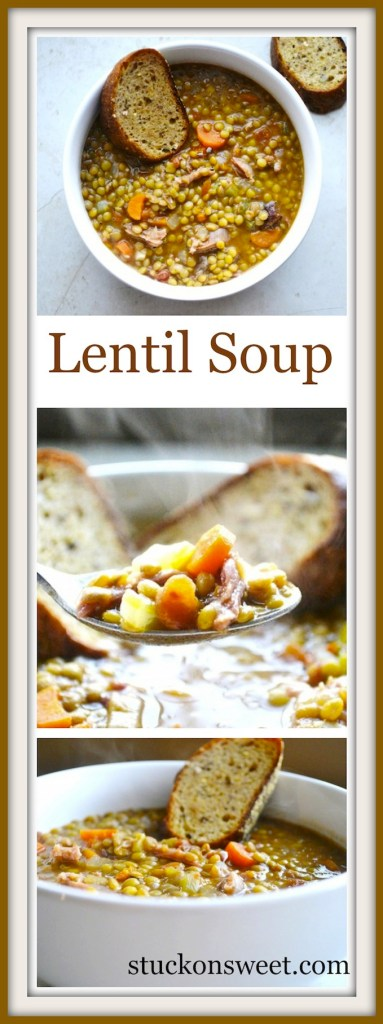Homemade Lentil Soup | stuckonsweet.com