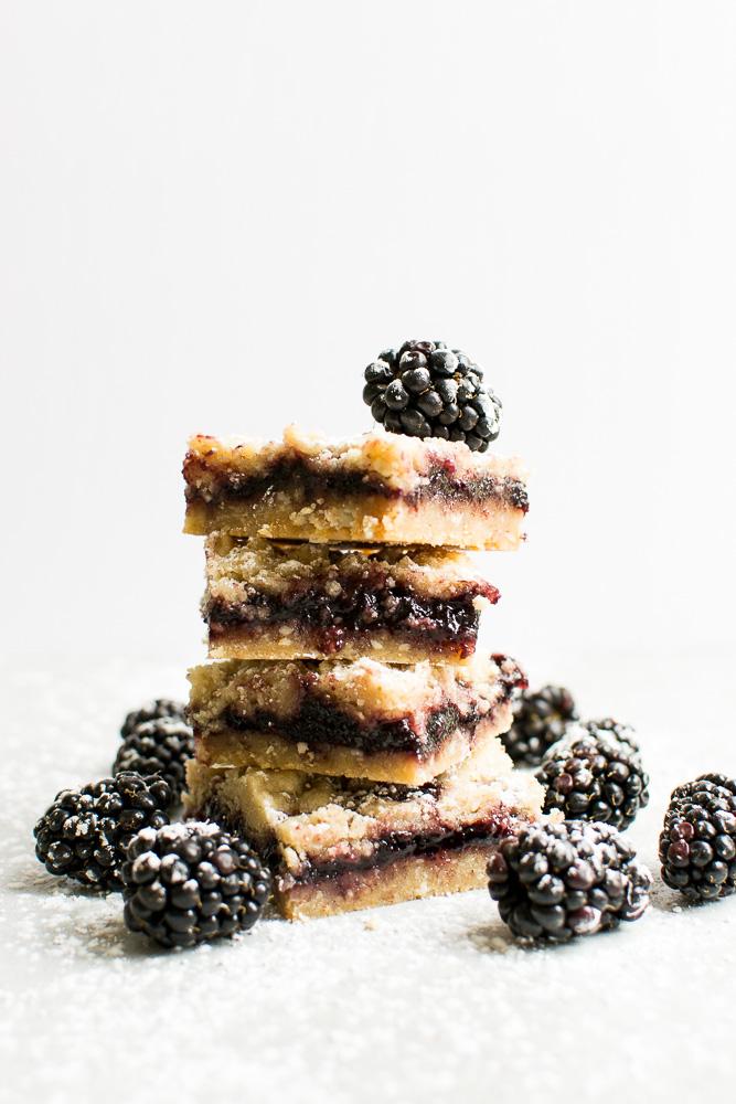 Blackberry Bread Shortbread Bars