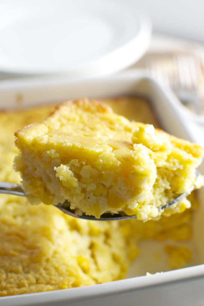 Corn Casserole Perfect For A Thanksgiving Side Dish Stuck On Sweet