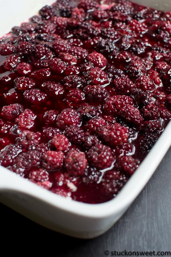 cooked blackberries